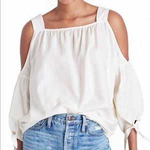 Madewell Cotton Cold Shoulder Blouse
